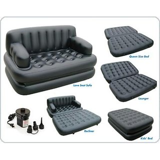 Amazing look 5 In 1 Air Sofa Cum Bed with Free Electric Pump - Best quality product
