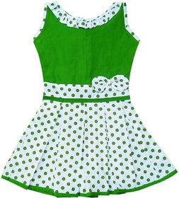 Flora Self Design Cotton Frock For Girls