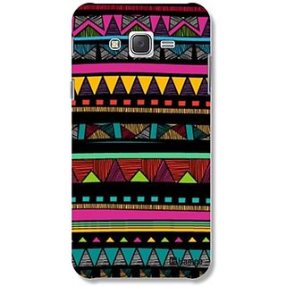 Hamee Grip Back Cover For Samsung Galaxy J7 (Tribal Print) Bcd274