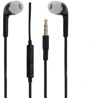 3.5MM  Earphones With Mic Black Compatible With Micromax Canvas Nitro A311
