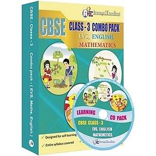 CBSE Class 3 Combo Pack English, Maths, EVS