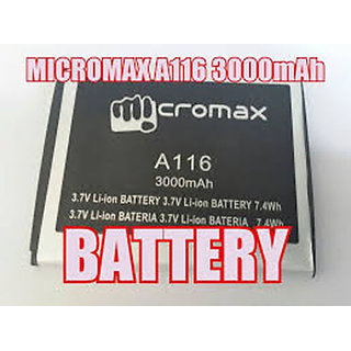 Replacement Battery For Micromax A116/106/A117/A115/114/A210/A92/S90