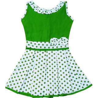 Flora Self Design Cotton Frock For Girls
