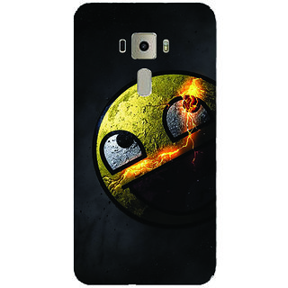 GripIt Awesome Face Printed Back Cover for Asus Zenfone 3