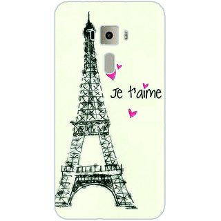GripIt Eiffel Tower Printed Case for Asus Zenfone 3