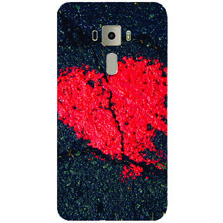 GripIt Heart On Stone Printed Case for Asus Zenfone 3 Laser