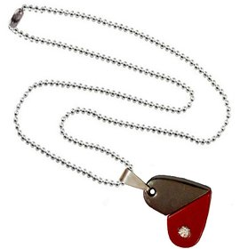 Men Style  Rotational  Two Colour Twice Style Heart Or Bullet  Red and Gray  Stainless Steel Heart Necklace Pendent For Men And Women