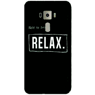 GripIt Note To Self-Relax Printed Case for Asus Zenfone 3 Laser