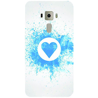 GripIt Splash Heart Pattern Printed Case for Asus Zenfone 3 Laser