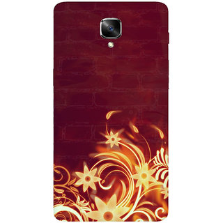 GripIt Fiery Flower Printed Casefor OnePlus 3