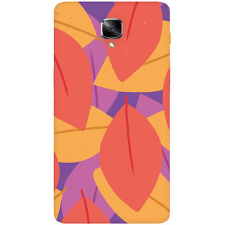 GripIt Red Leaves Printed Casefor OnePlus 3
