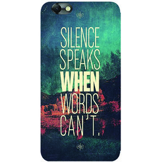 GripIt Silence Speaks Printed Case for Lenovo Vibe C