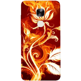 GripIt Fiery Plant Abstract Printed Casefor LeEco Le2