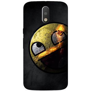GripIt Awesome Face Back Cover for Motorola Moto G4 Plus
