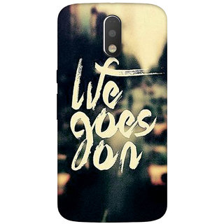 GripIt Life Goes On Case for Motorola Moto G4 Plus