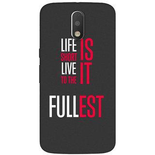 GripIt Life Is Short Case for Motorola Moto G4 Plus