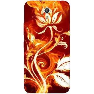 GripIt Fiery Plant Abstract Case for Lenovo Zuk Z1