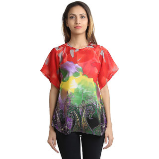 Apella Multicolored Georgette Top