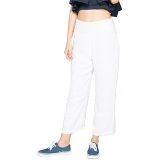 Noble Faith White High Wasited Culottes For Women