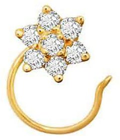 7 star jewels flower nose pin