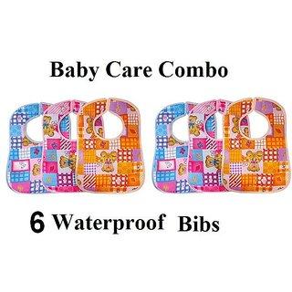 Baby Bibs Multi Color Printed- Pack of 6 CodEQK-7830
