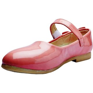 Small Toes Comfortable Pink Stylish Party Wear Bellies Shoes For Girls