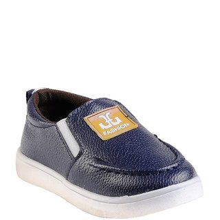 Small Toes Blue Comfortable Latest Stylish Synthetic Shoes For Kids