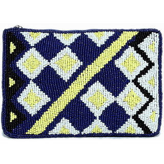 Handcrafted Multicolor Self Design Casual Clutch