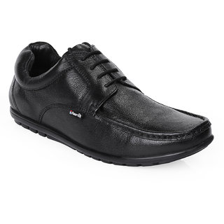 Red Chief Black Men Derby Formal Leather Shoes (RC10019 001)
