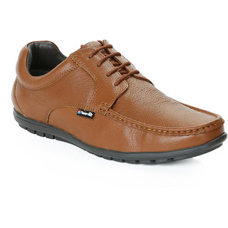 Red Chief Tan Men Derby Formal Leather Shoes (RC10019 006)