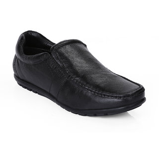 Red Chief Black Men Slip On Formal Leather Shoes (RC10020 001)