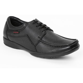 Red Chief Black Men Derby Formal Leather Shoes (RC10095 001)
