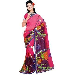 Star Fashion Multicolor Phulkari Art Silk Saree with Blouse