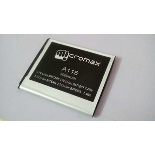 Premium Quality A116 A117 A106 A120 A210 Battery-3000MAH FOR MICROMAX CANVAS 3D