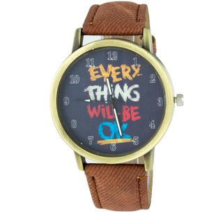 Addic Every Thing Will Be Ok Printed Dial Analog Watch - For Women