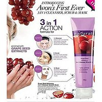 Avon Grape Seed Whitening 3 in 1 cleanser scrub  mask