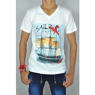 white cotten t-shirt for men