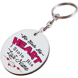 For Boyfriend Friend Fiance Spouse Friends Wooden Printed Keychain I Am Hooked Gift Him Her Men Birthday Anniversery Everyday Design 038