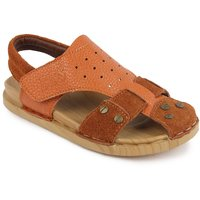 N Five Ankle Strap Brown Casual Sandals For Boys
