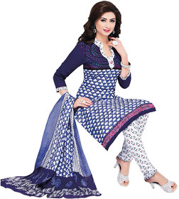 Drapes Womens Multicolor Cotton Printed Dress material (unstitiched) DF1513