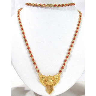 Golden New Fashion Mangalsutra Necklace