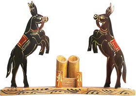 Antique Bamboos Handmade Horse Pen Stand