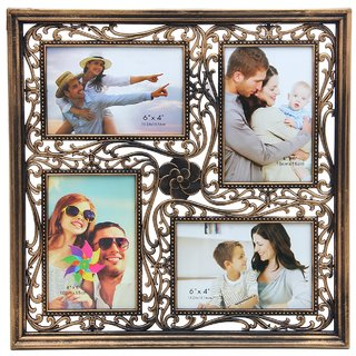 DESIGNER COPPER 4 PHOTOS COLLAGE FRAME 4 PHOTOS OF 1015 CM