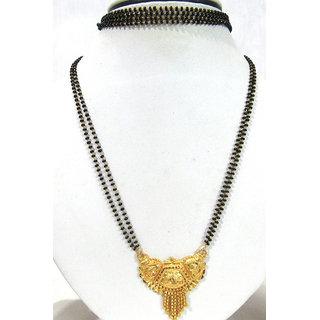 Long Golden Pendant Mangalsutra Necklace