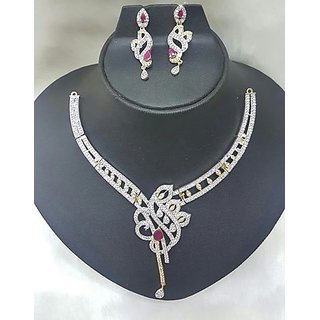 Gold Plated Meenakari Antique Necklace Set for Women