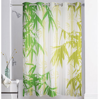 Lushomes Digitally Printed Bamboo Shower Curtain with 10 Eyelets