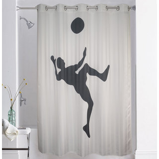 Lushomes Digitally Printed Football Shower Curtain With 10 Eyelets
