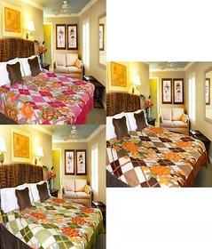 Pack Of 3 Single Bed Multicolor Blanket