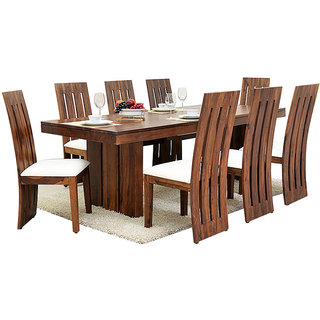 f8040da1ccc Buy Harshita Handicraft s Woww Room Sheesham 8 seater dining set Online -  Get 40% Off