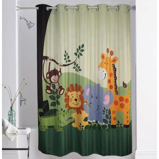 Lushomes Digitally Printed Kids Design 1 Shower Curtain with 10 Eyelets